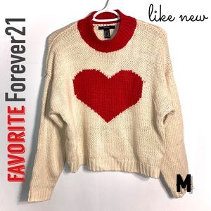 Forever 21 Sweaters - Heart You Lovely Sweater